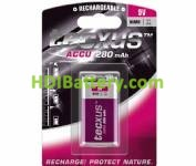Batería recargable Ni-MH 9 v- 280 mah 6F22-9V